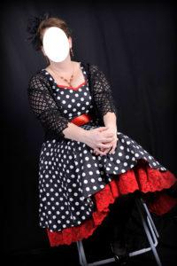 B2L Créations - Couture et retouches sur Rouen - robe année 50 avec haut guipure