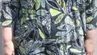 B2L Créations- Haut à fleurs vert