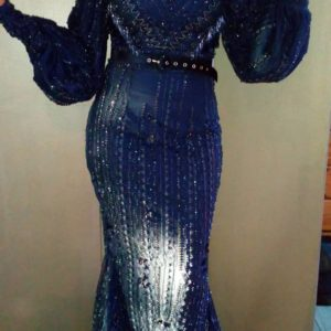 B2L Créations -robe dentelle et perles