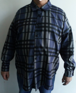 B2L Créations-chemise homme bleu grande taille