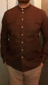 B2L Créations-chemise homme coton marron