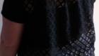 B2L Créations- teeshirt dos dentelle devant coton noir