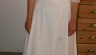 B2L Créations-robe de mariée ceinture pli plat haut dentelle