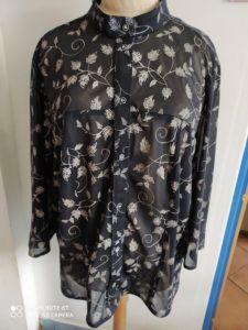 B2L Créations - Couture et retouches sur Rouen - chemise femme noir motif feuilles