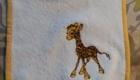 B2L Créations - Couture et retouches sur Rouen - Bavoir girafe